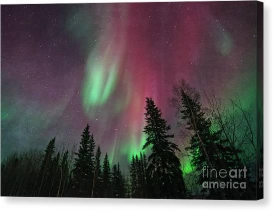 Yukon Canvas Print - Glowing Skies Textured by Priska Wettstein