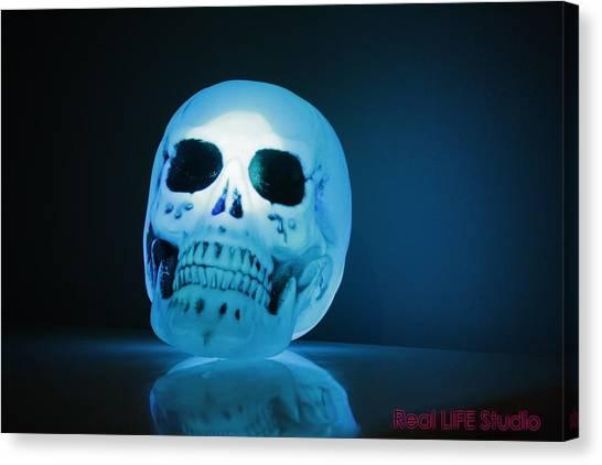 Glowing Skull Canvas Print by Al Fritz