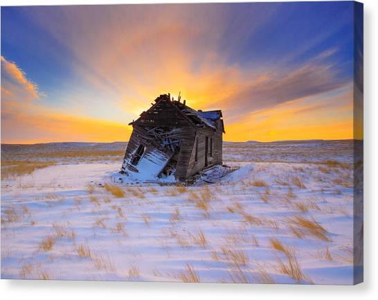 Glowing Winter Canvas Print by Kadek Susanto