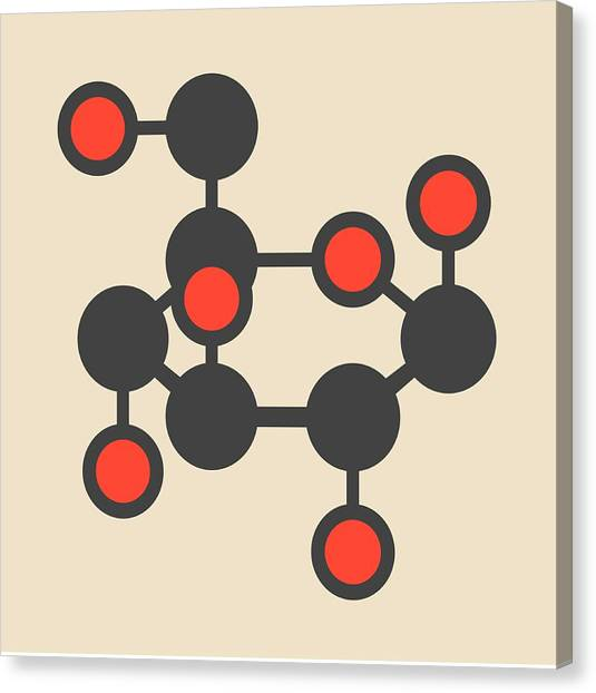 Diabetes Canvas Print - Glucose Molecule by Molekuul