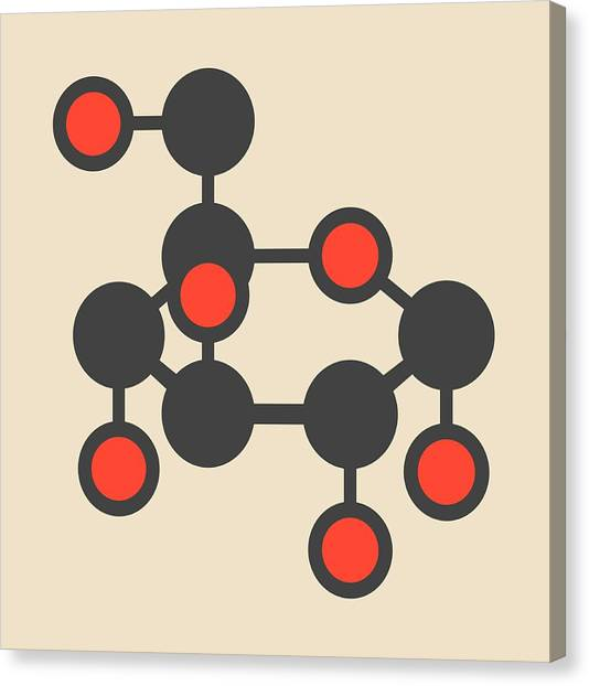 Diabetes Canvas Print - Glucose Sugar Molecule by Molekuul