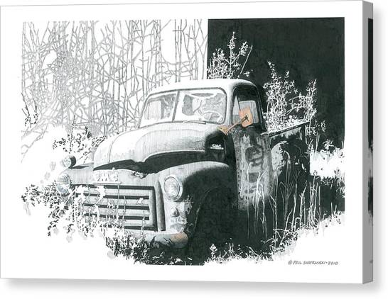 GMC Canvas Print by Paul Shafranski