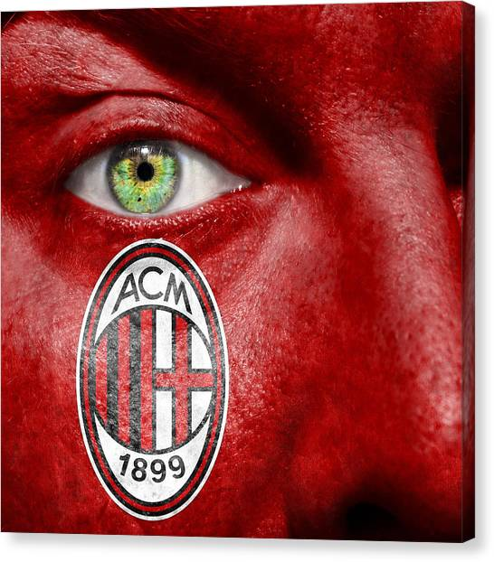 Ac Milan Canvas Print - Go Ac Milan by Semmick Photo
