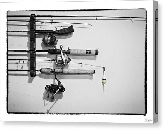 Fishing Poles Canvas Print - Go Fish - Art Unexpected by Tom Mc Nemar