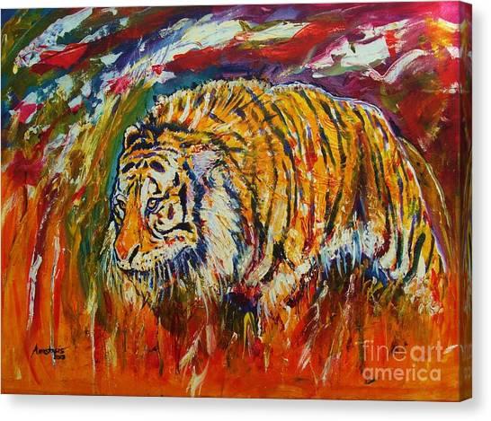 Go Get Them Tiger Canvas Print by Anastasis  Anastasi