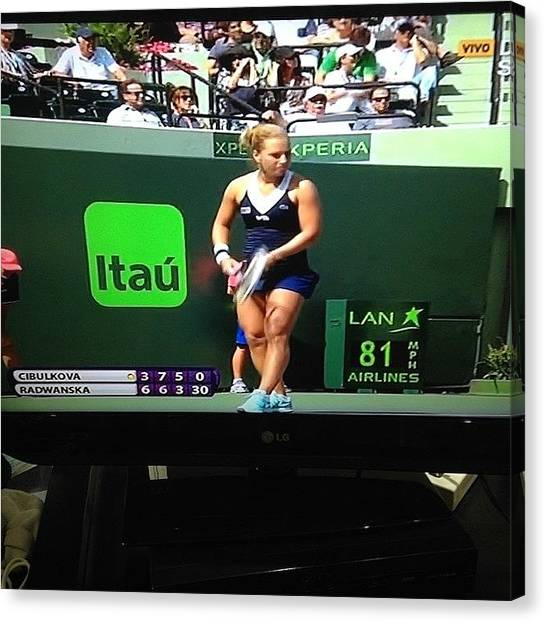 Tennis Canvas Print - Go Go Go @domicibulkova Fan From by Gaby Mabromata