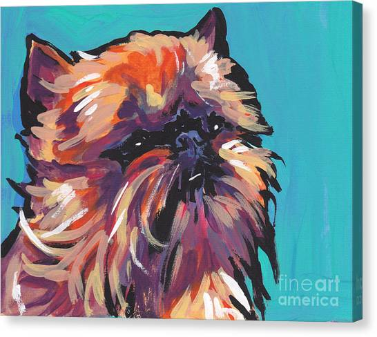Griffons Canvas Print - Go Griff by Lea S