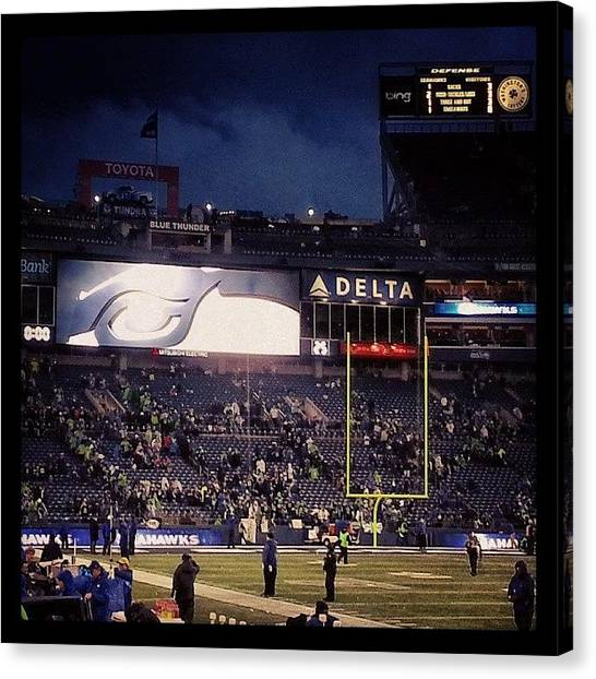Seattle Seahawks Canvas Print - Go Hawks! #12s #seahawks #imin #seattle by Nathan  Brend