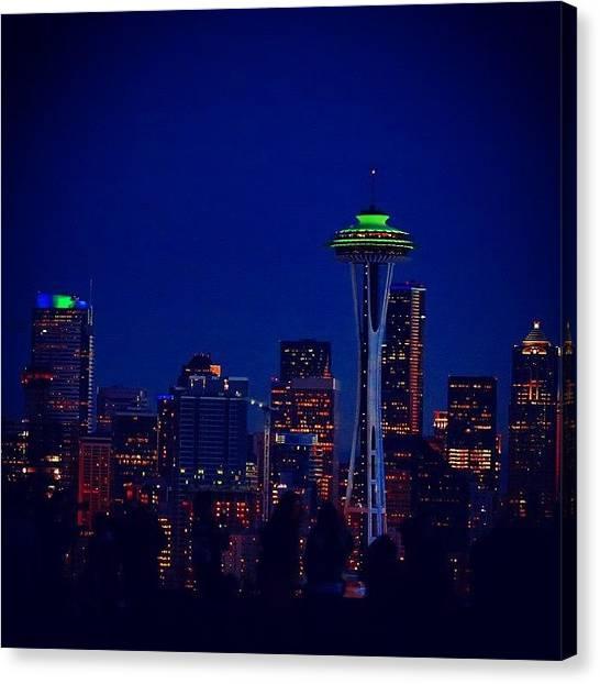 Seattle Seahawks Canvas Print - Go Hawks! #seattle #gohawks #seahawks by Sameer Halai