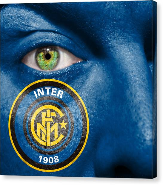 Serie A Canvas Print - Go Inter Milan by Semmick Photo