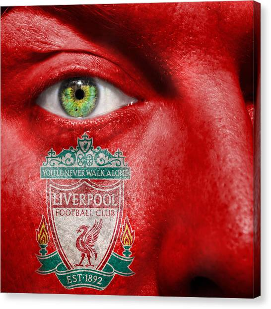 Liverpool Fc Canvas Print - Go Liverpool Fc by Semmick Photo