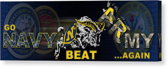 Canvas Print - Go Navy Beat Army by Mountain Dreams