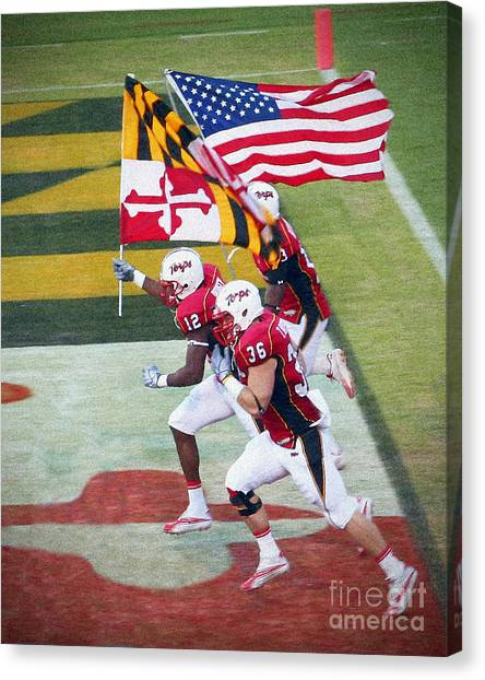 Acc Canvas Print - Go Terps by Thomas Smail