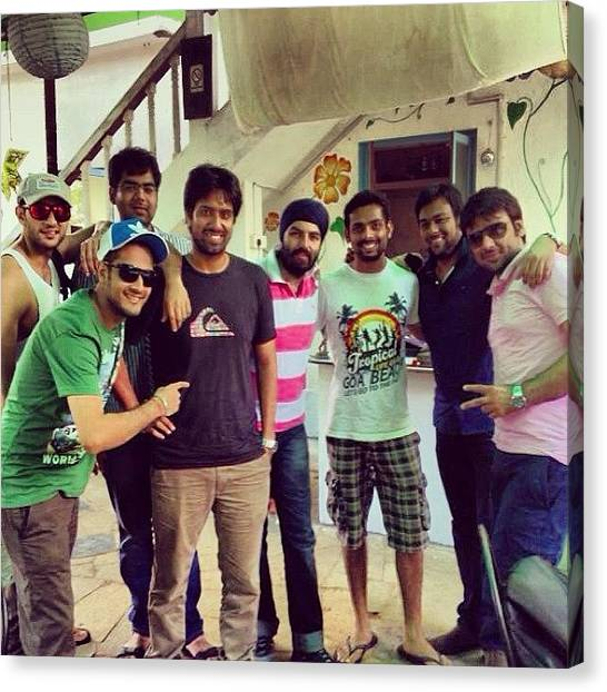 Bachelor Canvas Print - Goa 2013! #bachelors #epic #friends by Vikram Singh