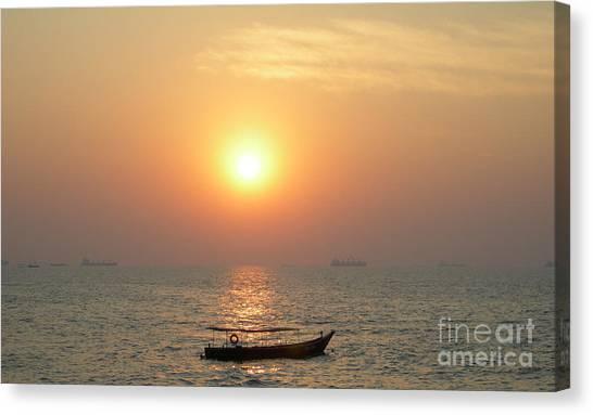 Goa Sunset Canvas Print