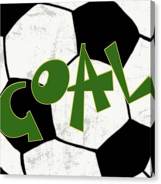 Soccer Canvas Print - Goal by Anna Quach