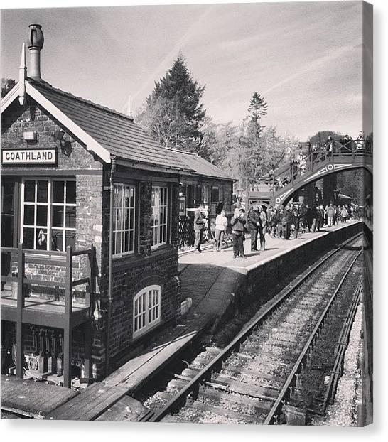 Steam Trains Canvas Print - Goathland Station #whitby #train #steam by Peter Edmondson