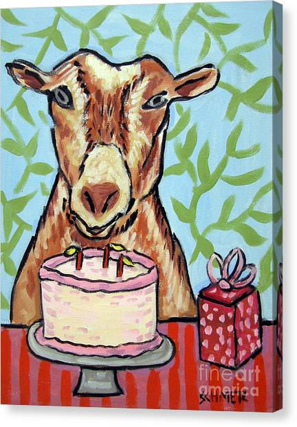 Goat's Birthday Canvas Print by Jay  Schmetz