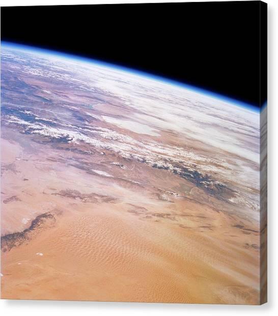 Gobi Desert Canvas Print - Gobi Desert And Qilian Mountains by Nasa