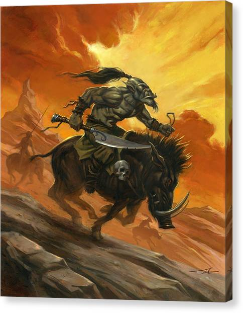 World Of Warcraft Canvas Print - Goblin Charge by Alan Lathwell