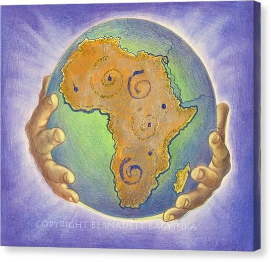 God Bless Africa Canvas Print