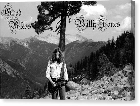 God Bless Billy Jones Canvas Print