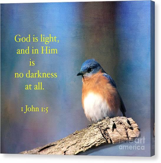 God Is Light Canvas Print