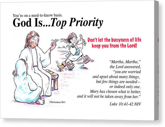 God Is Top Priority Canvas Print