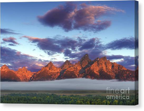 God Morning Tetons Canvas Print by Marco Crupi