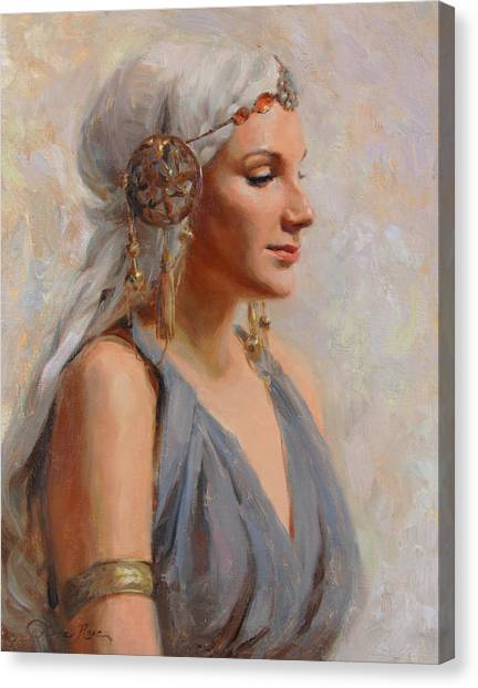 Greek Art Canvas Print - Goddess by Anna Rose Bain