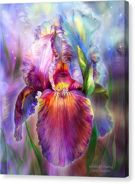 Chakra Canvas Print - Goddess Of Healing by Carol Cavalaris