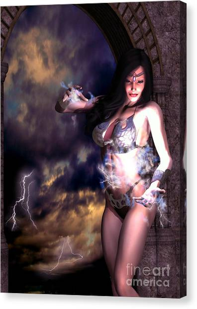 Goddess Of Storms Canvas Print
