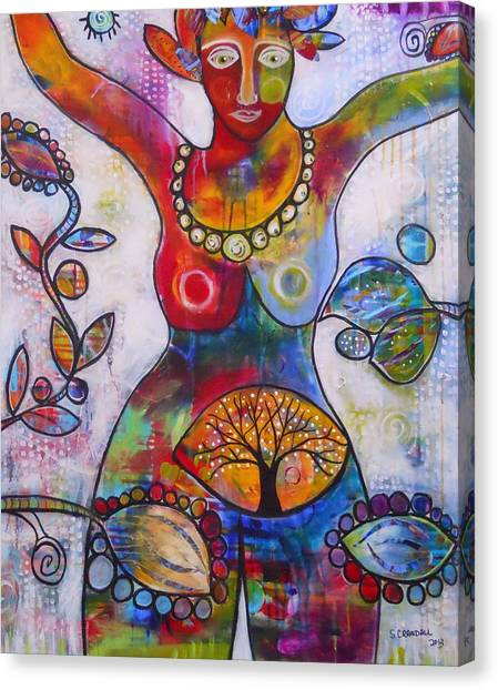 Goddess Of Truth Canvas Print by Shannon Crandall