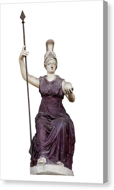 Dea Canvas Print - Goddess Roma Triumphans by Fabrizio Troiani
