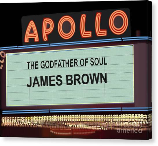 Apollo Theater Canvas Print - Godfather Of Soul by Michael Lovell