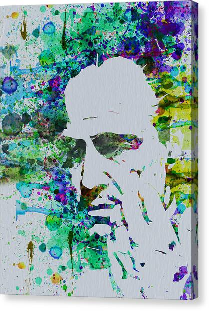 Tv Shows Canvas Print - Godfather Watercolor by Naxart Studio