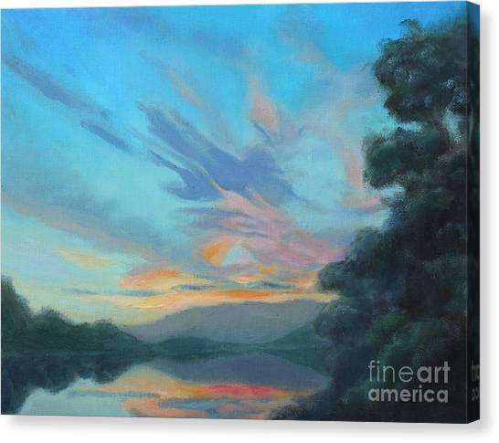 God's Morning Canvas Print by Karen Burkland