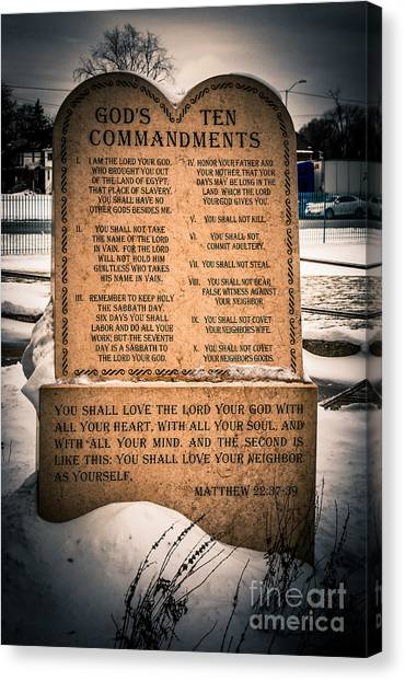 God's Ten Commandments Canvas Print