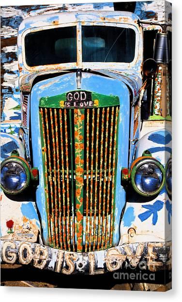 Gods Truck Canvas Print