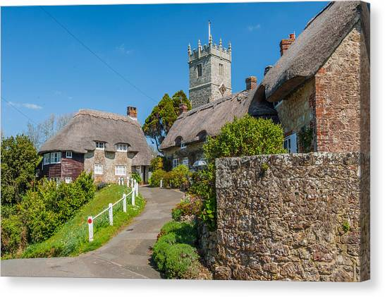 Godshill Isle Of Wight Canvas Print by David Ross