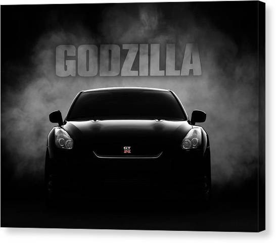 Cars Canvas Print - Godzilla by Douglas Pittman