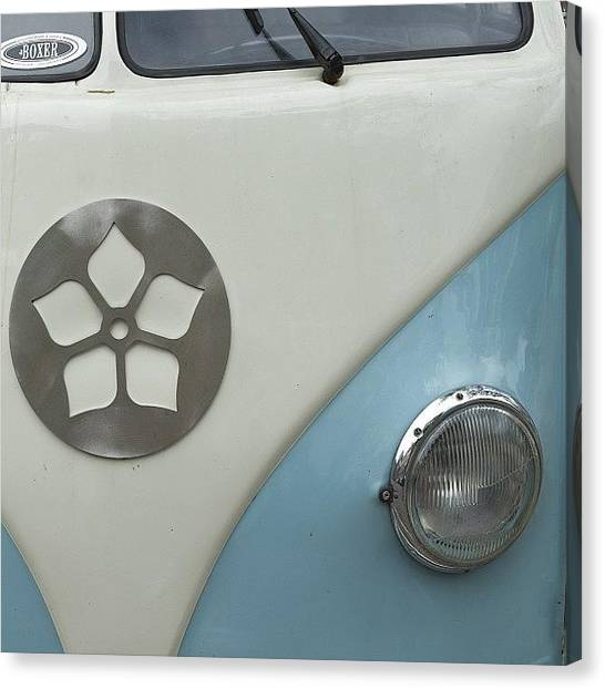Vw Bus Canvas Print - Going #abstract If Only A Little  #vw by Andy Kleinmoedig