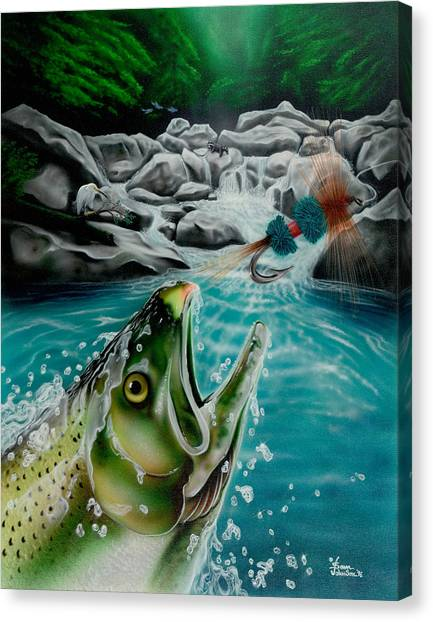 Going After The Wulff Canvas Print