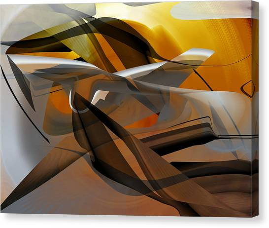 Canvas Print featuring the digital art Going Brown Abstract by rd Erickson
