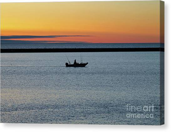 Going Fishing Canvas Print by Eric Curtin