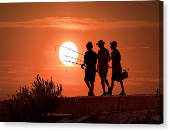 Fishing Canvas Print - Going Fishing by Randall Nyhof