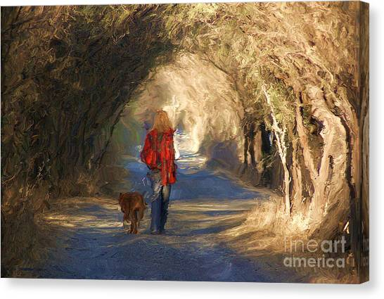 Going For A Walk Canvas Print