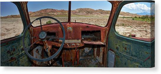 Rusty Truck Canvas Print - Going Nowhere... by Dennis D Croxall