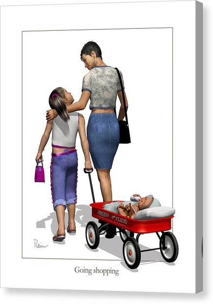Going Shopping Canvas Print