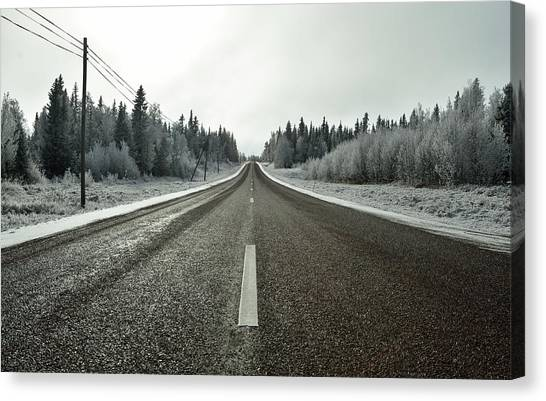 Hoarfrost Canvas Print - Going Somewhere by Bossemarcus